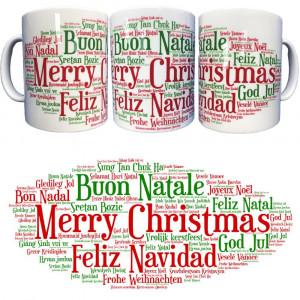 Tazza In Ceramica Buon Natale Merry Christmas Tazze Regalo PS 09370-17 Pelusciamo Store Marchirolo