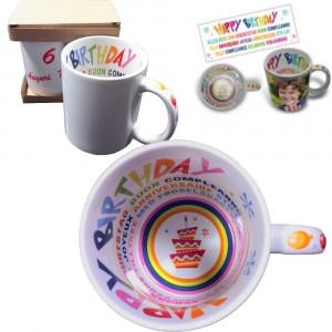 Tazza Buon Compleanno Personalizzabile Foto Dediche PS 09388 Tazze Personalizzata