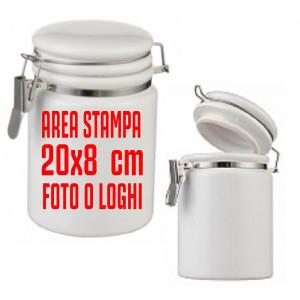 Barattolo con Chiusura Ermetica 18X8 cm. Idea Regalo PS 09889 Pelusciamo Store Marchirolo