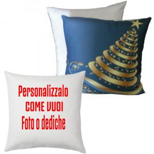 Cuscino Albero Natalizio Oro Personalizzabile 38x38 PS 10342 Gadget Personalizzato Pelusciamo Store Marchirolo