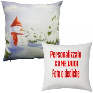 Cuscino Natalizio Pupazzo Personalizzabile 38x38 PS 10344 Gadget Personalizzato Pelusciamo Store Marchirolo