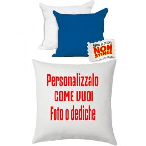 Cuscino Personalizzabile Bicolore Bianco Blu 40x40 cm PS 10752 Gadget Personalizzato Pelusciamo Store Marchirolo