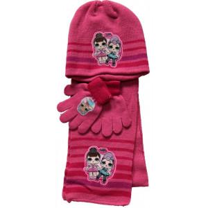 Set invernale LOL Surprise  Cappello , Sciarpa e Guanti. PS 11218 Pelusciamo Store Marchirolo