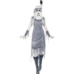 Costume Halloween Carnevale Donna Indiana Fantasma Smiffys Far West | Pelusciamo.com