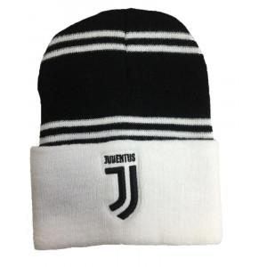 BERRETTO INVERNALE Cuffia NERO  Originale JUVENTUS Nuovo Logo JJ Ufficiale HAT