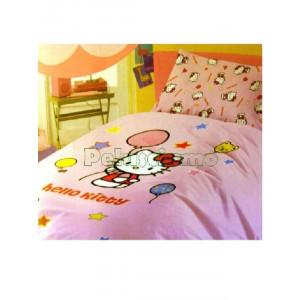 Completo Letto Singolo Hello Kitty Palloncini 1 piazza cartoon cartoni tv *11661