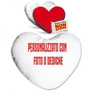 Cuscino Cuore Personalizzabile Bicolore Bianco Rosso 40 cm PS 12902 Gadget Personalizzato