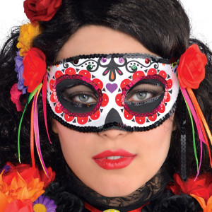 Maschera Halloween Donna Day of the Dead. Veneziana, Messicana | pelusciamo.com