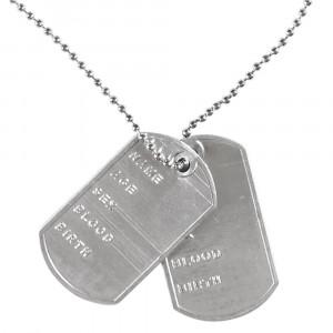 Collana Piastine Militare Accessori Carnevale Militari PS 26488 Pelusciamo Store Marchirolo