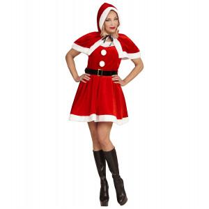 Vestito Babba Natale Abito Natalizio Miss Santa PS 25819 Pelusciamo Store Marchirolo