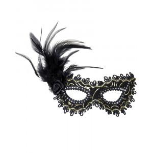Mascherina Domino Veneziana Accessori Costume Carnevale PS 26526 Pelusciamo Store Marchirolo