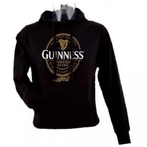 Felpa con Cappuccio adulto nera Guinness Beer PS 18842 Abbigliamento Ufficiale