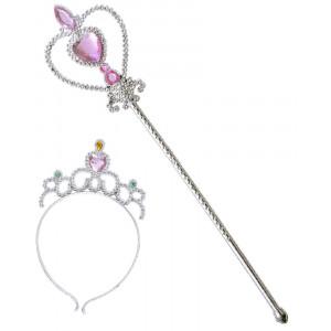 Scettro e Tiara Principessa Accessorio Costume Principesse PS 10155 Pelusciamo Store Marchirolo