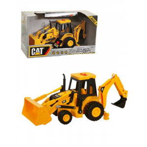 Modellino Caterpillar CAT backhoe ternaluci e suoni *19274 macchine da lavoro giochi per bambini pelusciamo.com pelusciamo store