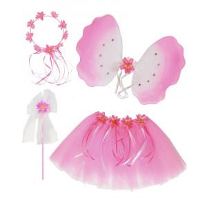 Set Tutu, Ali, Copricapo, Bacchetta x Costume Principessa PS 01971 Pelusciamo Store Marchirolo