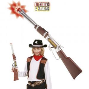 Accessorio Costume Carnevale cowboy fucile luci e suoni 63 cm. *19697 Pelusciamo store