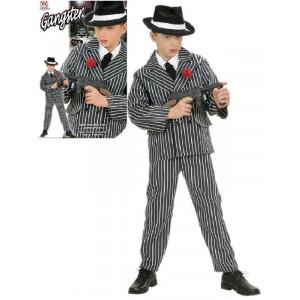 Costume Carnevale bambino gessato Gangster camicia giacca pantaloni *19796 pelusciamo store