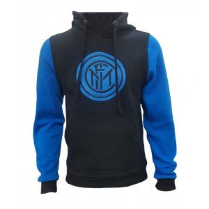 Felpa Inter Nera Con Cappuccio Abbigliamento FC Internazionale | Pelusciamo.com