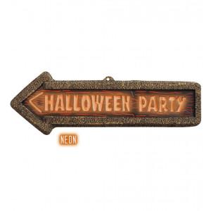 Decorazione Casa Insegna Halloween Party Fluo PS 09053 Pelusciamo Store Marchirolo