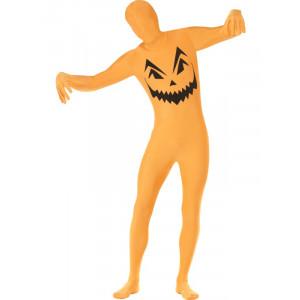 Costume Halloween Carnevale Adulto Seconda Pelle Zucca Zentai Smiffys