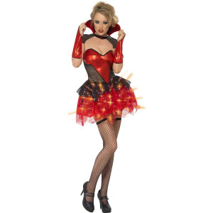 Costume Carnevale Donna halloween Vamp Glitter *17116