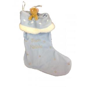 Calza regali natale epifania peluche topolino Elliot 35 cm Blu  | Pelusciamo.com
