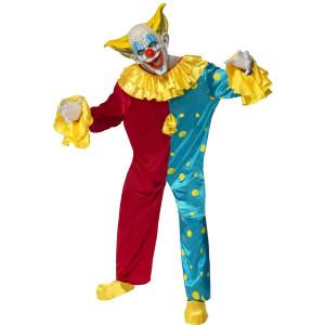 Costume Carnevale Halloween Adulto Clown Pagliaccio Horror Smiffys