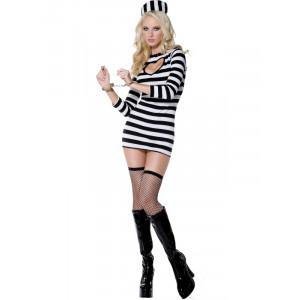 Costume carnevale donna Sexy Prigioniera Carcerata smiffys *08460 pelusciamo.com