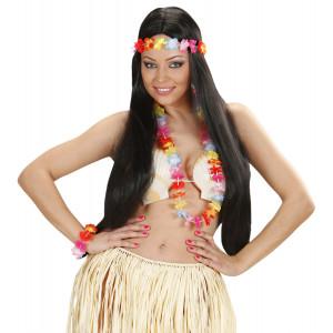 Set Floreale Costume Hawaiana Multicolore   Hawaiano | pelusciamo.com