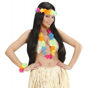Set Floreale Costume Hawaiana Colori Vivaci   | pelusciamo.com