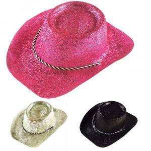 Gadget Festa Capodanno, Cappello Cowboy Glitter Cowgirl PS 19335 Pelusciamo Store Marchirolo