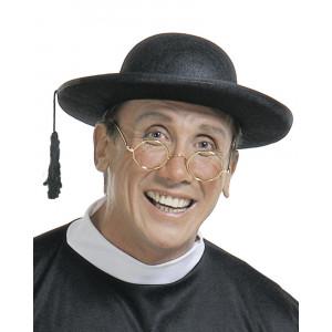 Cappello da Prete Sacerdote Accessorio per Costume di Carnevale PS 19991