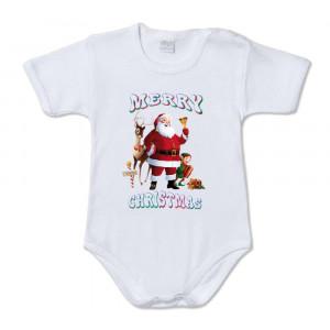 Body Neonato Babbo Natale Renna e Elfo  Merry Christmas  PS 28180-10 pelusciamo store Marchirolo