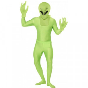 Costume carnevale uomo Halloween Seconda Pelle Alieno Marziano *17068