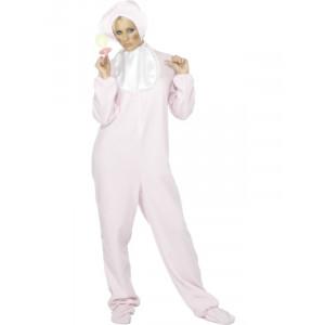 Costume Carnevale Donna Neonata Baby Pink Con Ciuccio *10359 pelusciamo.com