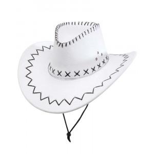 Cappello Cowboy Bianco Accessori Costume Carnevale Uomo PS 26409 Pelusciamo Store Marchirolo