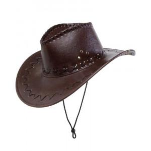 Cappello Cowboy Marrone Scuro Accessori Costume Carnevale Uomo PS 26410 Pelusciamo Store Marchirolo