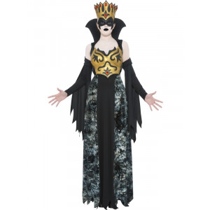 Costume Carnevale Halloween Donna Regina Sovrana Fantasma Gotica Smiffys
