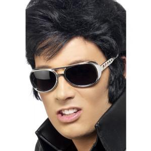 Accessori Carnevale Occhiali Elvis Presley Argento in plastica *09879 pelusciamo store