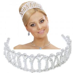 Corona Principessa Modellabile Finte Perle Accessori Carnevale PS 26491 Pelusciamo store Marchirolo