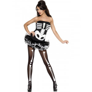 Costume Halloween Carnevale Donna Scheletro Horror Tutù Smiffy's