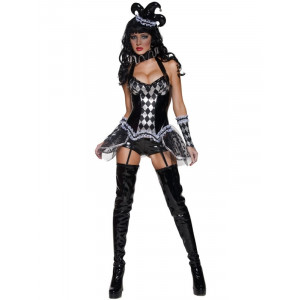 Costume Halloween Carnevale Donna Arlecchino Circo Smiffys