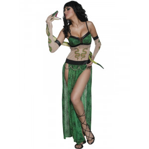 Costume carnevale donna Halloween Donna Serpente smiffys *17111