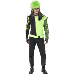 Costume Halloween Carnevale Adulto Giacca Elfo Punk fluo smiffy's