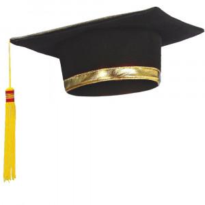 Cappello Festa di Laurea Bordo Oro PS 03836 Pileo Tocco Pelusciamo Store Marchirolo