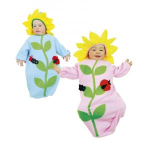 Costume Carnevale Primi Mesi, Tutina Fiorellino 0-9 Mesi EP 24889