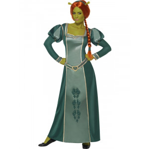 Costume Carnevale Donna Fiona Shrek abito travestimento