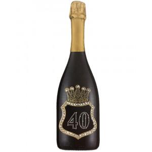 Bottiglia Di Prosecco Extra Dry 0.75 ML. Personalizzata 40 Anni PS 27276