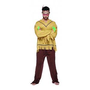 Costume Carnevale Adulto Indiano , Vestito Far West  05231 pelusciamo store