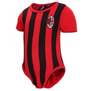 Body Neonato a Righe Rosso Nero Abbigliamento Ufficiale Ac. Milan PS 12685 pelusciamo Store Marchirolo